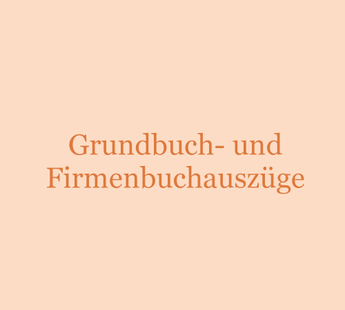 Grundbuch-/Firmenbuchauszüge